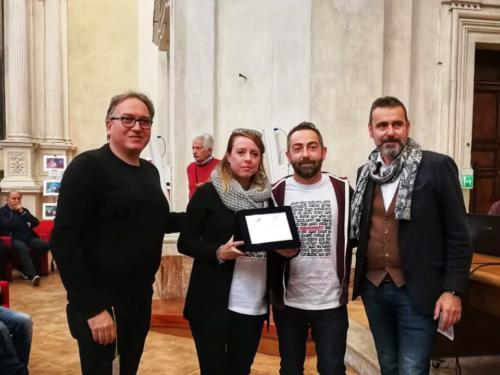 premiazione Camera Creativa come vincitrice sezione portfolio