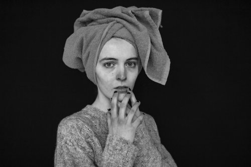 caterina golia after shower